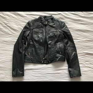 Wilson's Leather Moto Jacket Size Small